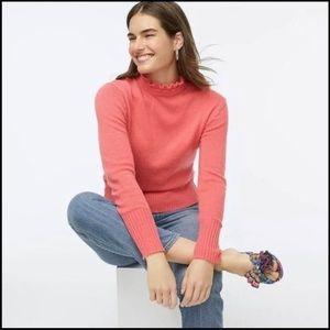 J. Crew Ruffle Turtleneck Sweater